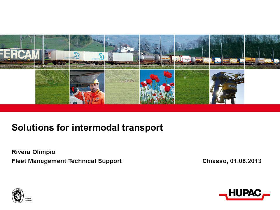 Presentazione Tecnica Introduzione La Hupac Intermodal SA offre le seguenti possibilità tecniche per il Traffico Intermodale non accompagnato: Casse mobili e ISO-Container Semirimorchi Cisterne