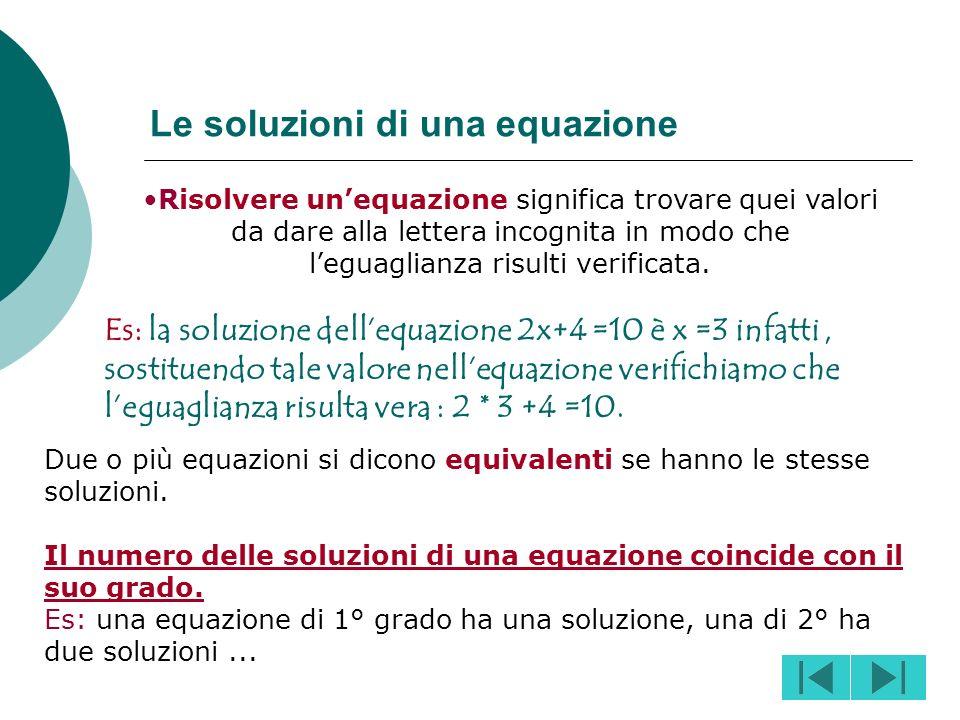 Una equazione si dice ridotta a forma normale se, tramite delle opportune trasformazioni, è posta nella forma P(x) =0. Si chiama grado di una equazion