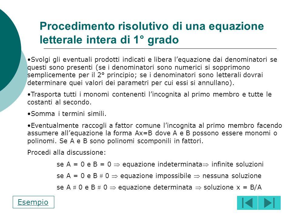 Si portano tutti i termini al primo membro Si scompongono tutti i denominatori Si calcola il m.c.m. tra i termini al denominatore; quindi si divide il
