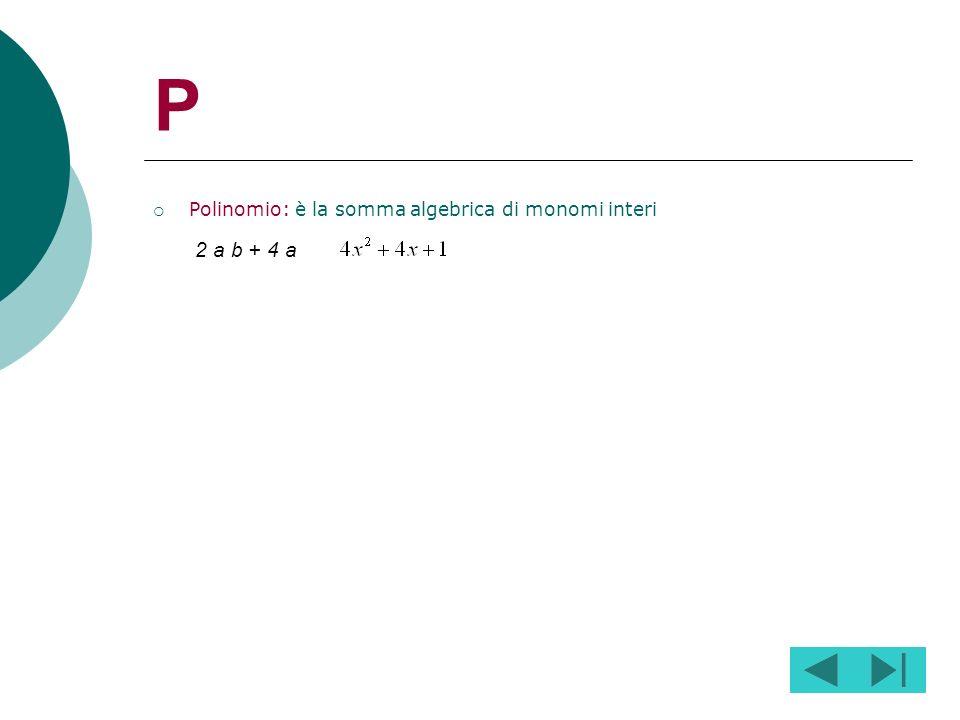 N Numeratore: è il termine che si trova sopra il segno di frazione Numeratore denominatore