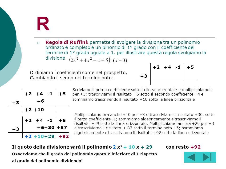 Q Quadrinomio: è un polinomio formato da 4 termini 4 a + 2b – a 2 + 5b 3
