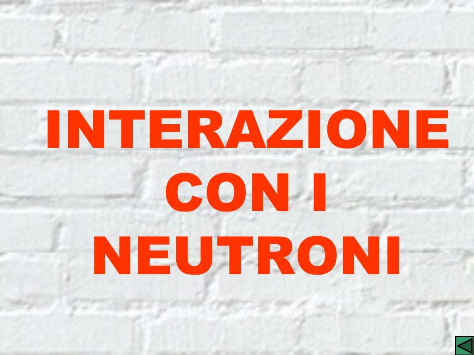 INTERAZIONE CON I NEUTRONI