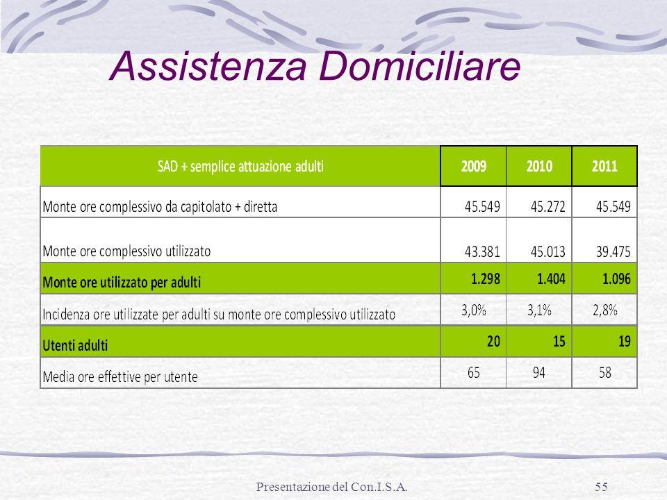 Presentazione del Con.I.S.A.55 Assistenza Domiciliare
