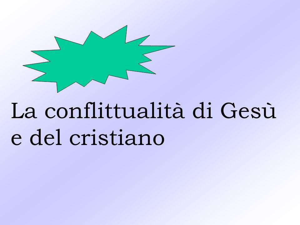 La conflittualità di Gesù e del cristiano