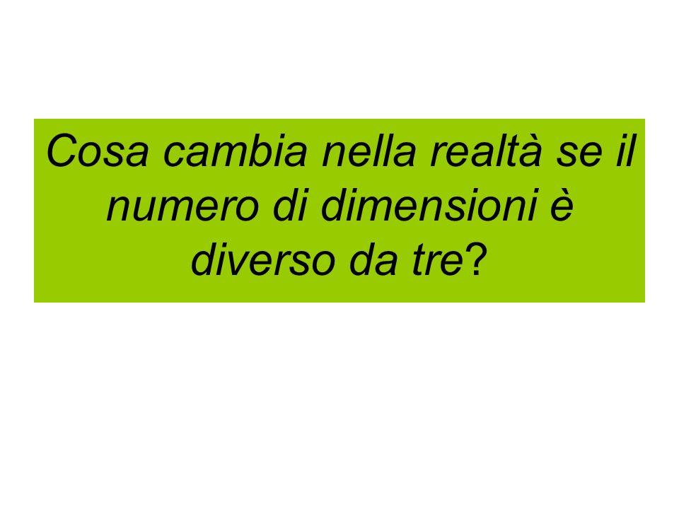 Cosa cambia nella realtà se il numero di dimensioni è diverso da tre?