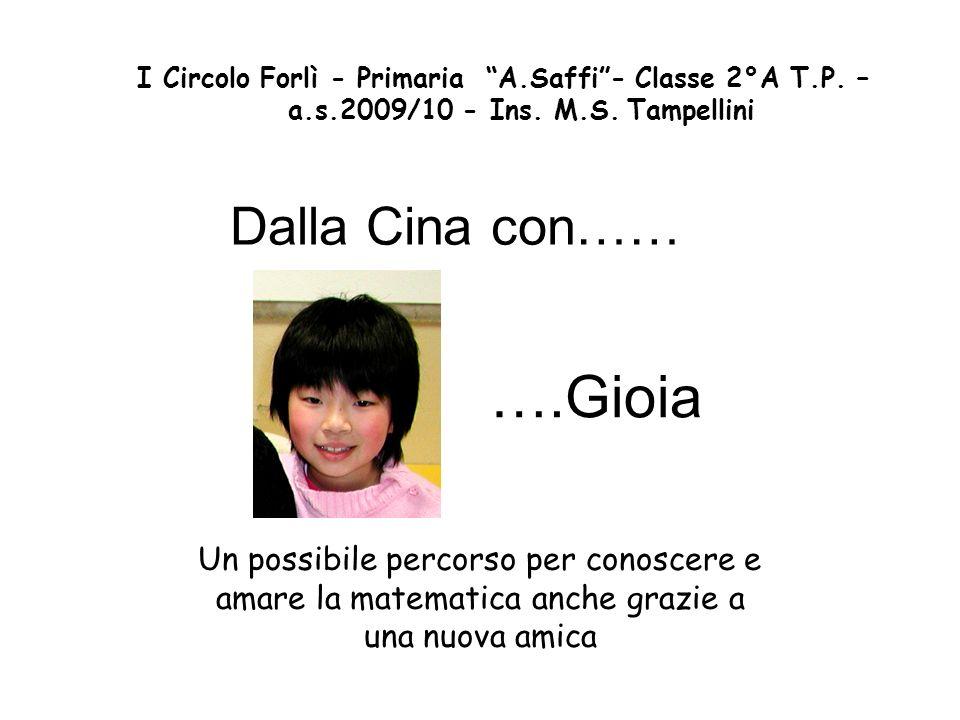 M.S.Tampellini 1°Circolo Forlì 2 Allinizio della seconda è entrata nella nostra classe (già composta da 25 alunni di varie nazionalità) Gioia, una bambina cinese.