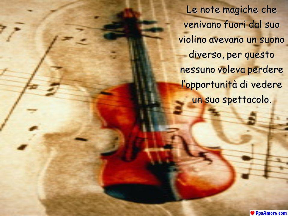 Cera una volta un grande violinista chiamato PAGANINI Alcuni dicevano che era molto strano Altri, che era soprannaturale