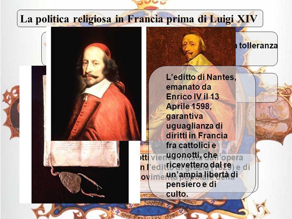 4 Rapporto fra il Re e la Chiesa di Roma I Gallicani spinsero Luigi XIV ad uno scontro diretto con Papa Innocenzo XI.