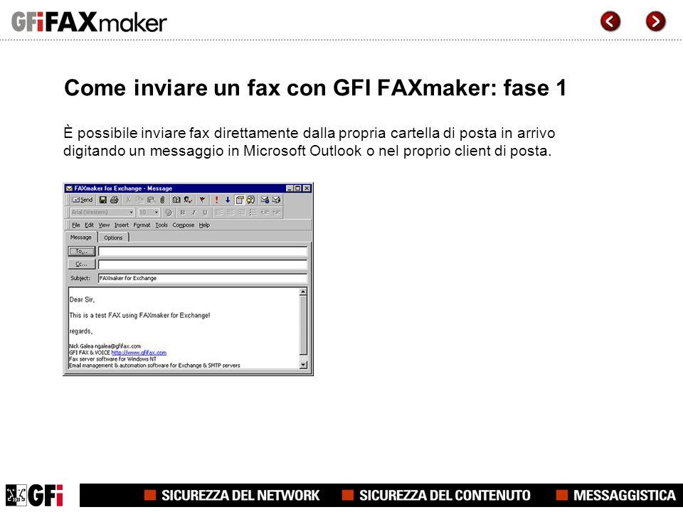 Come inviare un fax con GFI FAXmaker: fase 1 È possibile inviare fax direttamente dalla propria cartella di posta in arrivo digitando un messaggio in Microsoft Outlook o nel proprio client di posta.