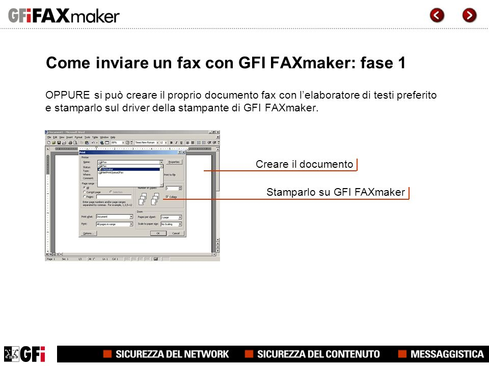 Come inviare un fax con GFI FAXmaker: fase 1 Quando si stampa su GFI FAXmaker, appare una nuova finestra di dialogo di Outlook o del client email con in allegato il fax creato.