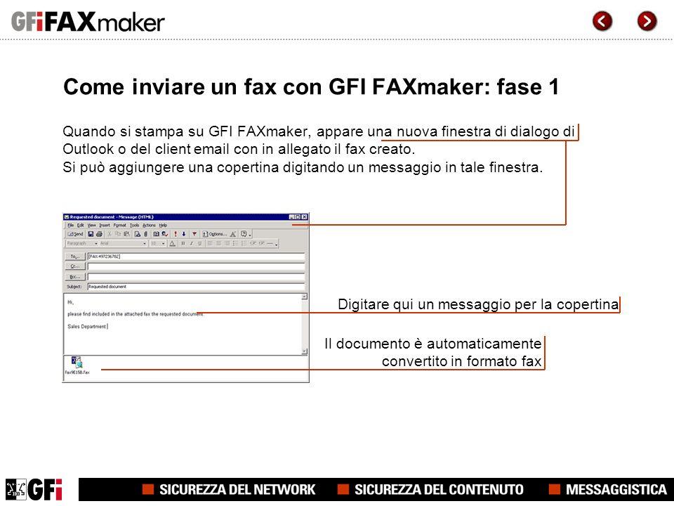 Come inviare un fax con GFI FAXmaker: fase 2 È possibile aggiungere degli allegati al fax.