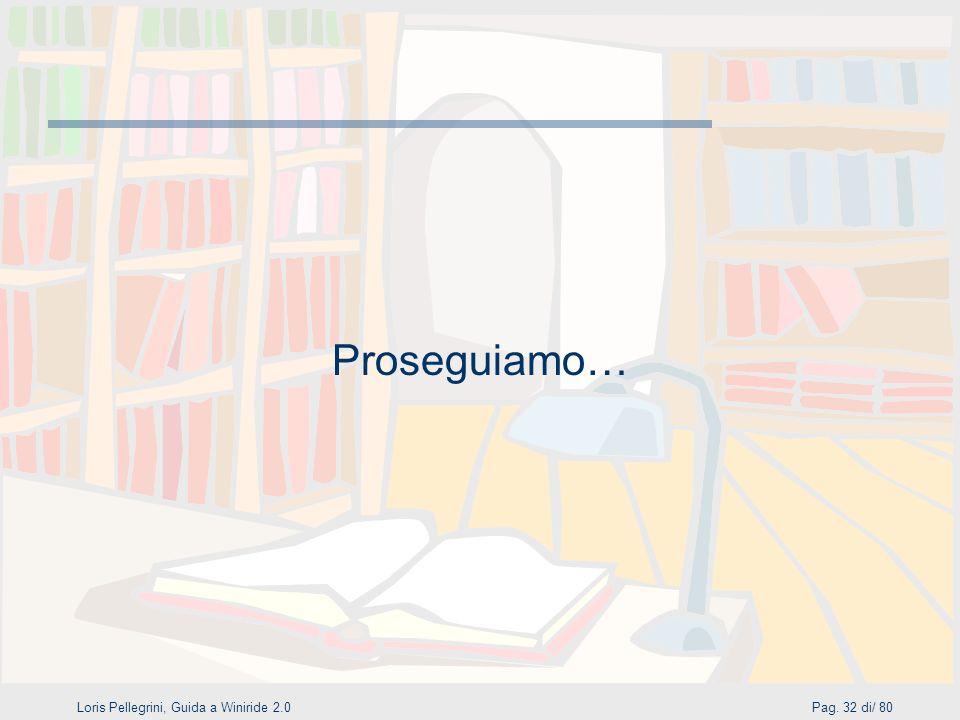 Loris Pellegrini, Guida a Winiride 2.0Pag. 32 di/ 80 Proseguiamo…