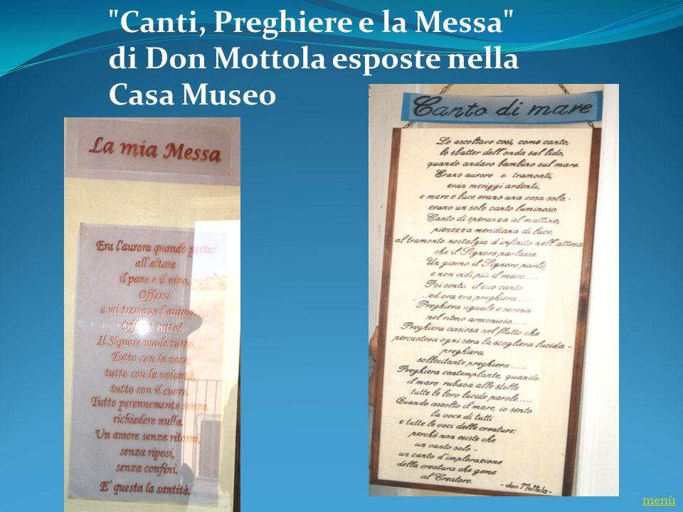 Don Mottola nel Seminario di Catanzaro - Anno 1941 menù