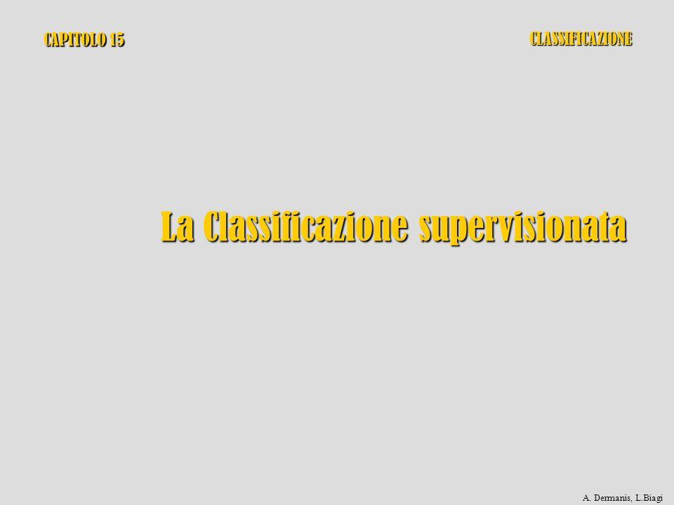 CAPITOLO 15 La Classificazione supervisionata CLASSIFICAZIONE A. Dermanis, L.Biagi