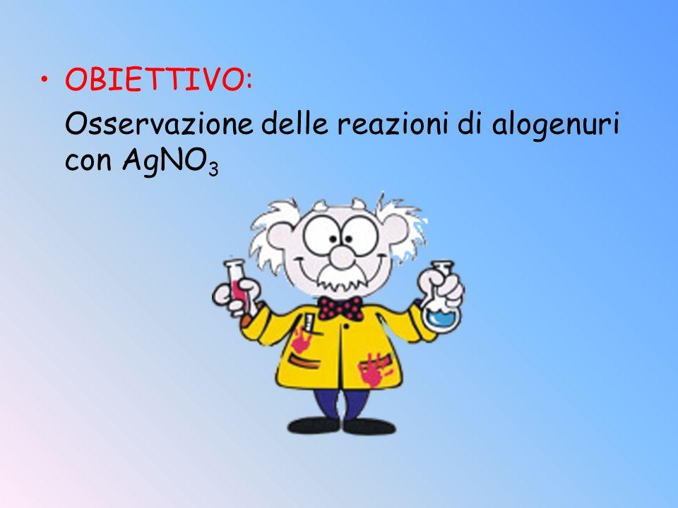 OBIETTIVO: Osservazione delle reazioni di alogenuri con AgNO 3