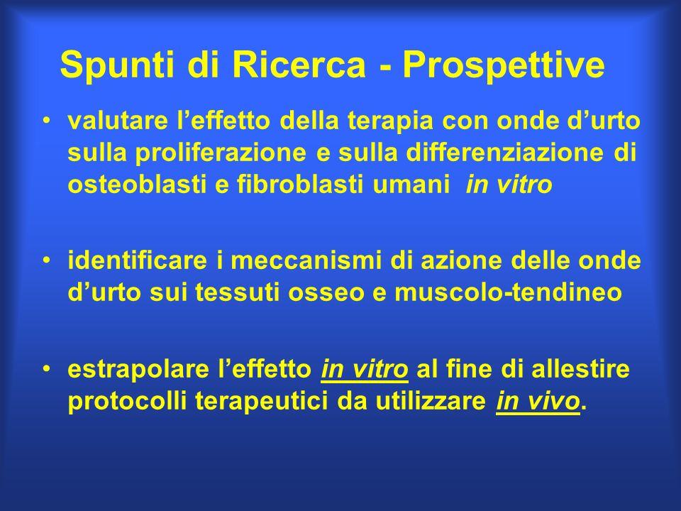 Spunti di Ricerca - Prospettive valutare leffetto della terapia con onde durto sulla proliferazione e sulla differenziazione di osteoblasti e fibrobla