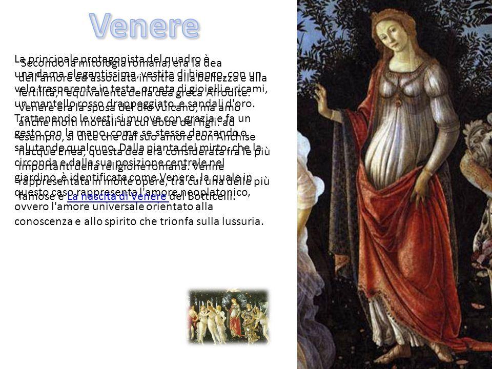 Secondo la mitologia romana, era la dea dell'amore ed associata in oltre alla bellezza e alla fertilità, l'equivalente della dea greca Afrodite. Vener