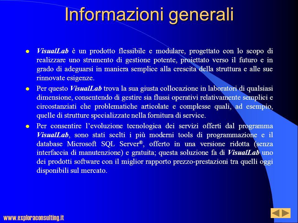 Informazioni generali l VisualLab è un prodotto flessibile e modulare, progettato con lo scopo di realizzare uno strumento di gestione potente, proiet