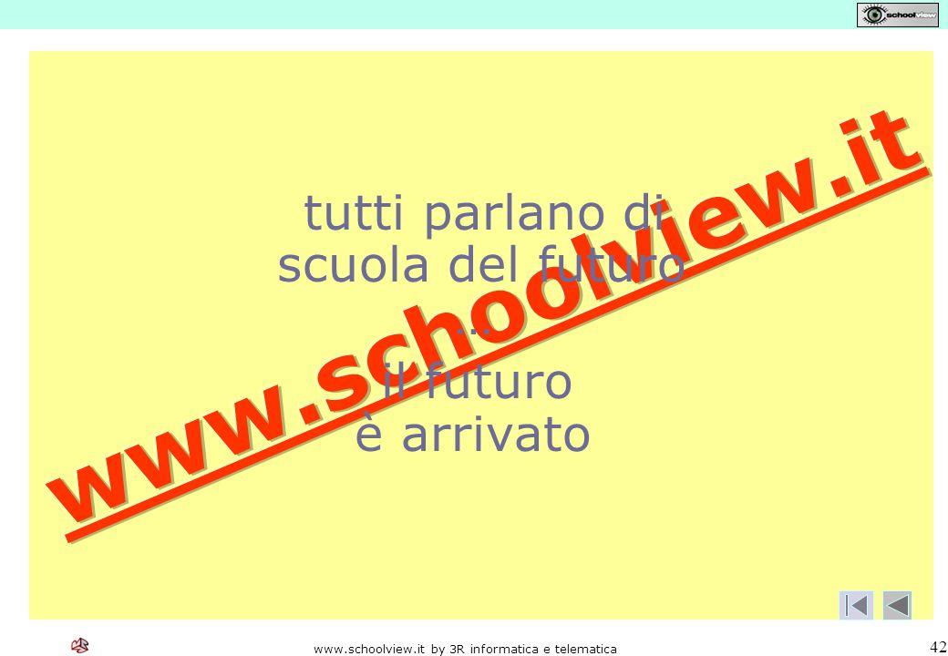 www.schoolview.it by 3R informatica e telematica 42 tutti parlano di scuola del futuro … il futuro è arrivato
