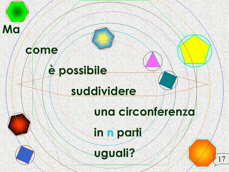 Ma come è possibile suddividere una circonferenza n in n parti uguali? 17