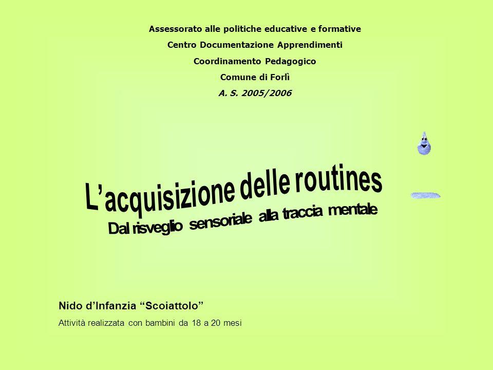 Assessorato alle politiche educative e formative Centro Documentazione Apprendimenti Coordinamento Pedagogico Comune di Forlì A. S. 2005/2006 Nido dIn