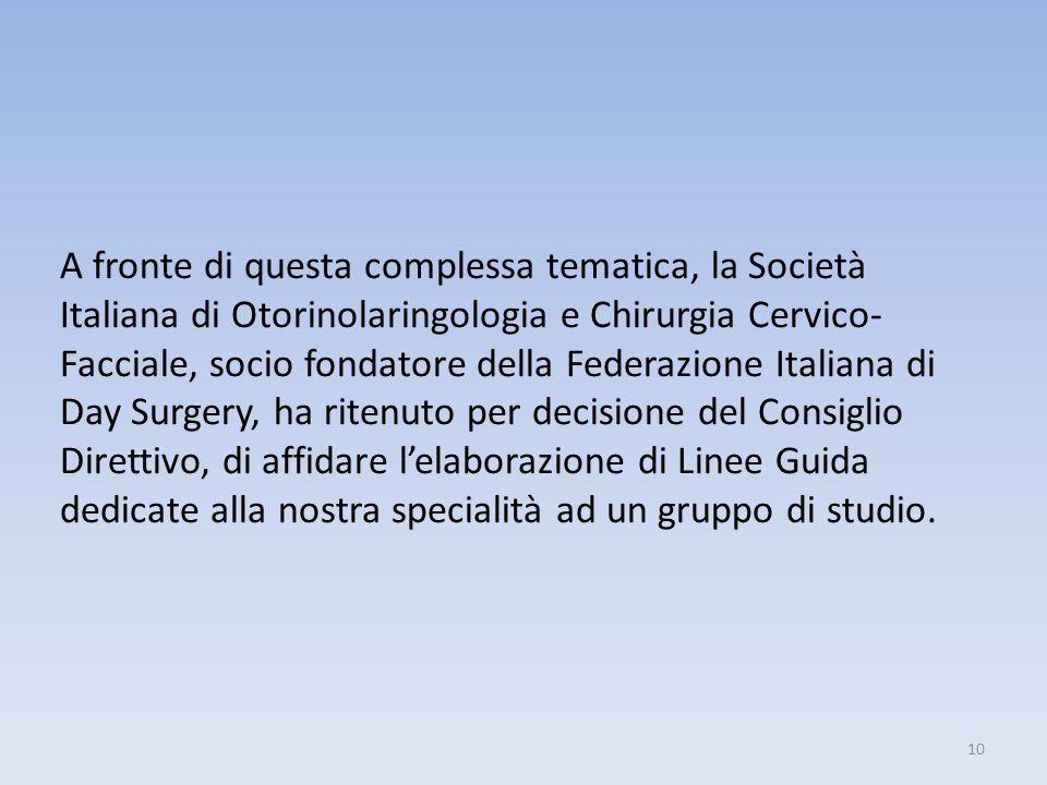 A fronte di questa complessa tematica, la Società Italiana di Otorinolaringologia e Chirurgia Cervico- Facciale, socio fondatore della Federazione Ita