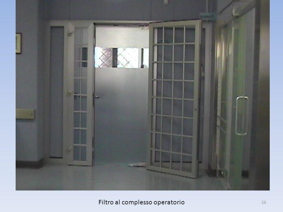 Filtro al complesso operatorio 26