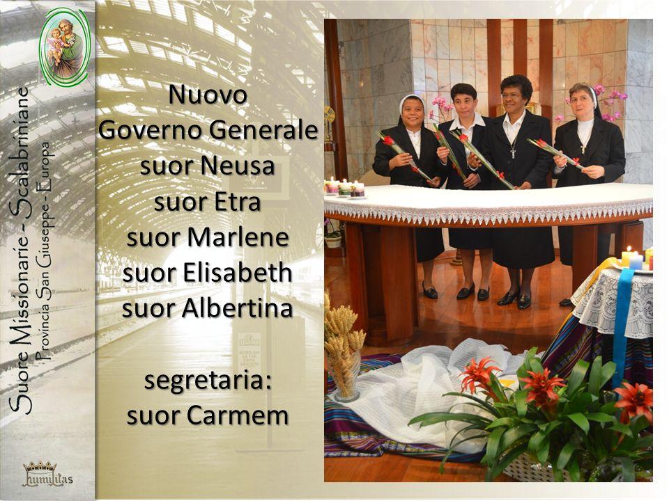 Nuovo Governo Generale suor Neusa suor Etra suor Marlene suor Elisabeth suor Albertina segretaria: suor Carmem