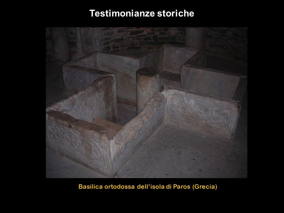 Basilica ortodossa dellisola di Paros (Grecia) Testimonianze storiche