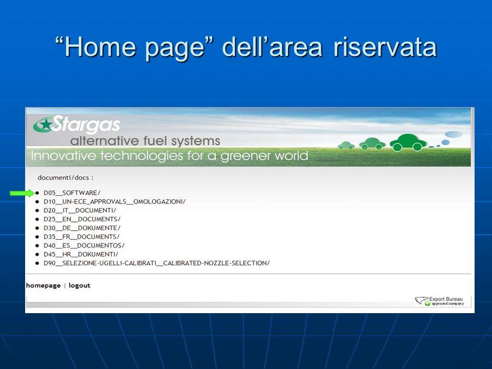 Home page dellarea riservata