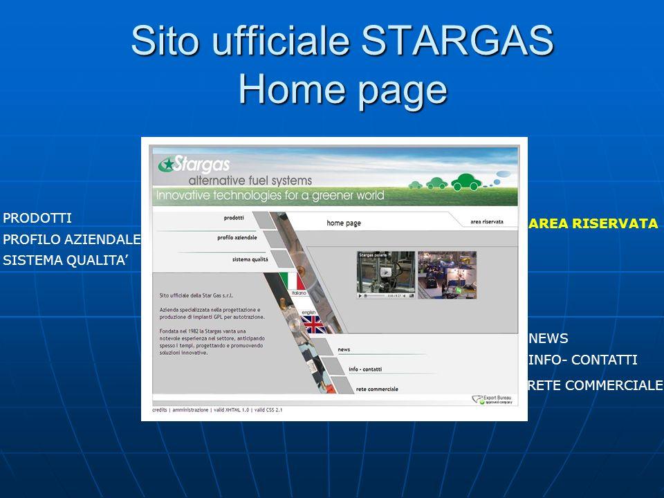 Sito ufficiale STARGAS Home page PRODOTTI PROFILO AZIENDALE SISTEMA QUALITA AREA RISERVATA NEWS INFO- CONTATTI RETE COMMERCIALE