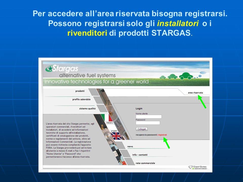 Per accedere allarea riservata bisogna registrarsi.