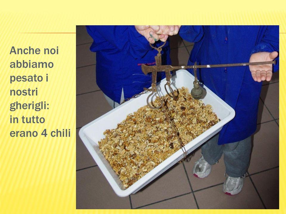 A turno le donne utilizzavano il frantoio del mugnaio Camillo per schiacciare i gherigli.