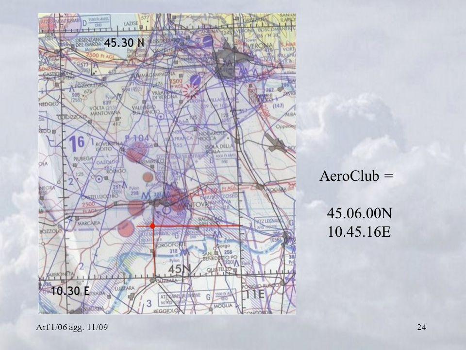 Arf 1/06 agg. 11/0924 AeroClub = 45.06.00N 10.45.16E
