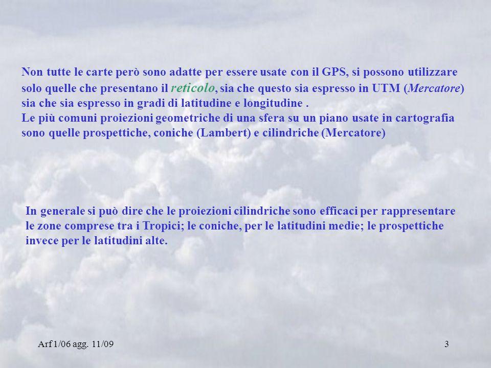 Arf 1/06 agg. 11/094 Proiezione prospettica Proiezione conica Proiezione cilindrica