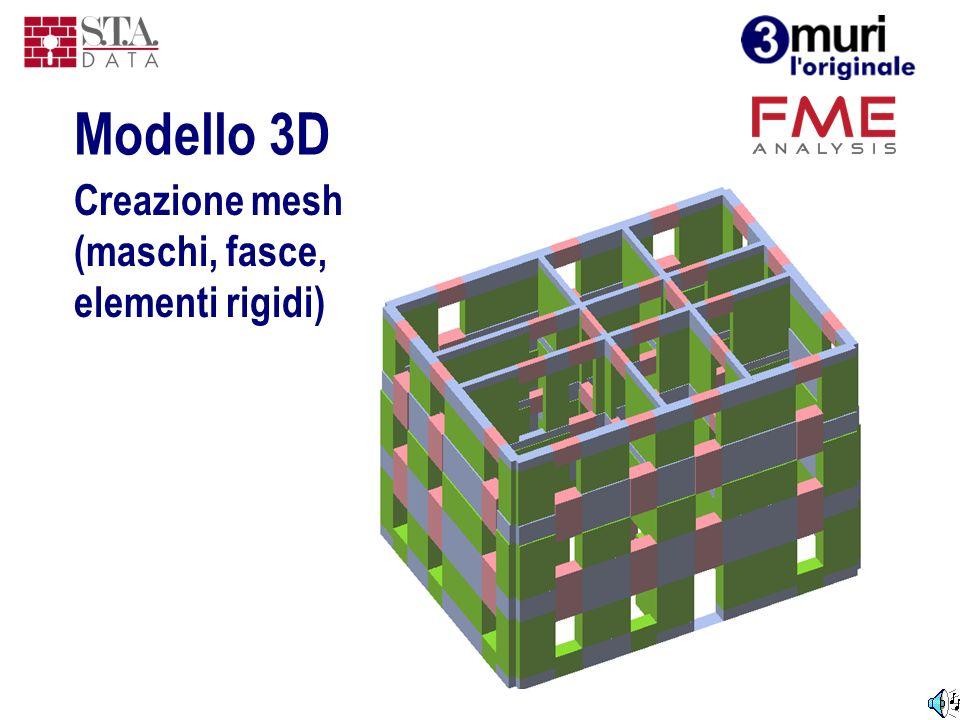 Creazione mesh (maschi, fasce, elementi rigidi)
