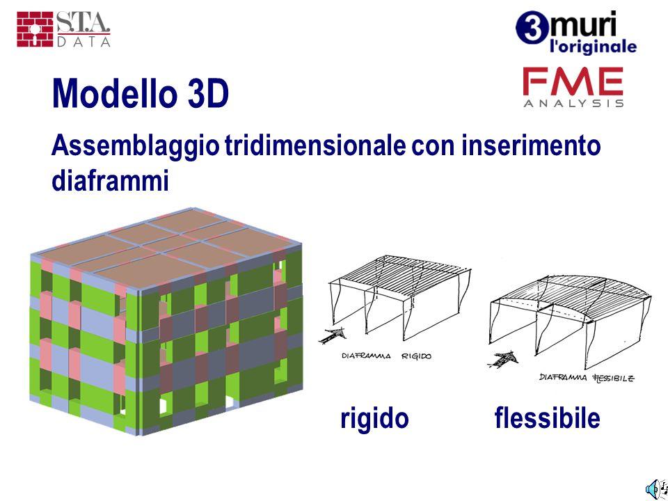 Assemblaggio tridimensionale con inserimento diaframmi Modello 3D rigidoflessibile