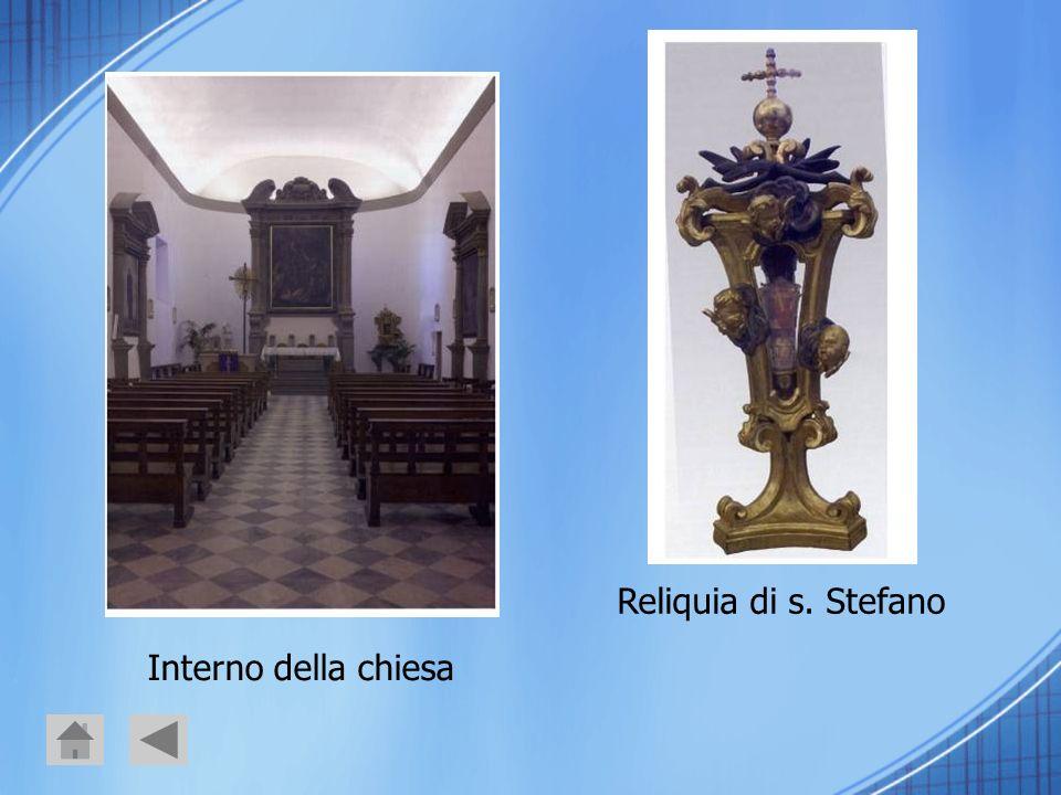 Interno della chiesa Reliquia di s. Stefano