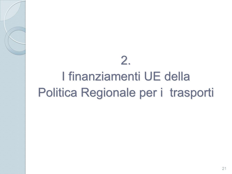 2. I finanziamenti UE della Politica Regionale per i trasporti 21