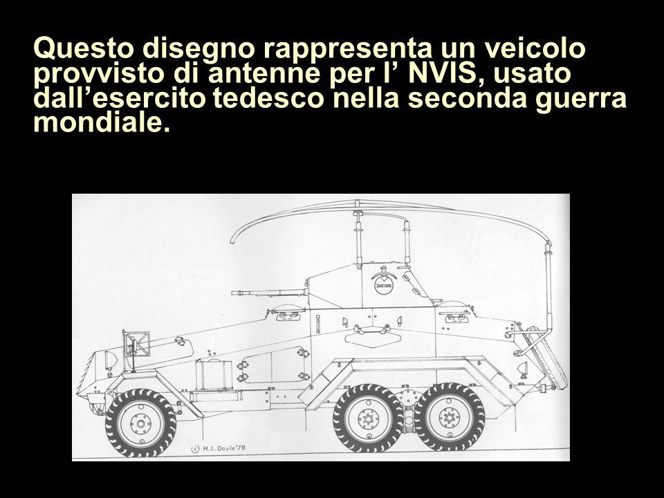 Questo disegno rappresenta un veicolo provvisto di antenne per l NVIS, usato dallesercito tedesco nella seconda guerra mondiale.