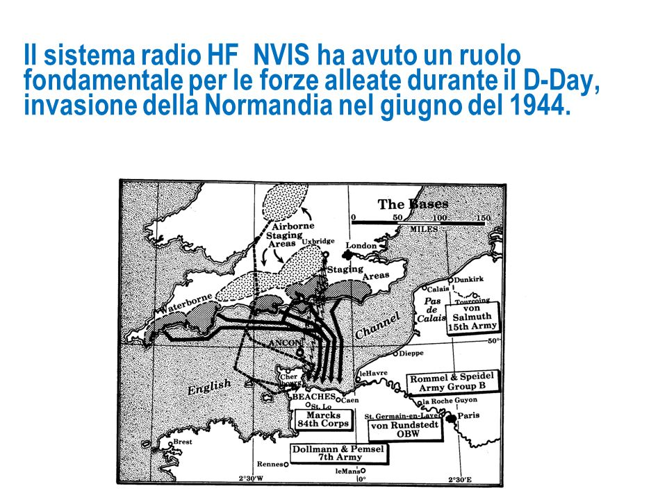 Il sistema radio HF NVIS ha avuto un ruolo fondamentale per le forze alleate durante il D-Day, invasione della Normandia nel giugno del 1944.