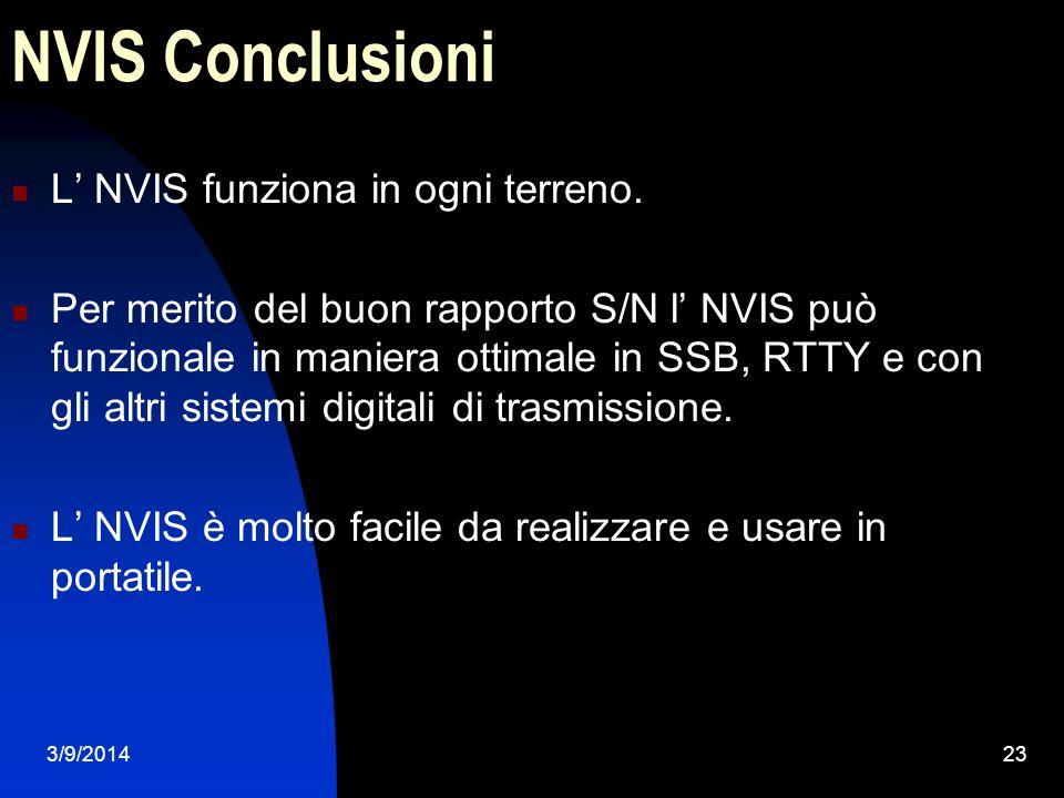 3/9/201423 NVIS Conclusioni L NVIS funziona in ogni terreno. Per merito del buon rapporto S/N l NVIS può funzionale in maniera ottimale in SSB, RTTY e