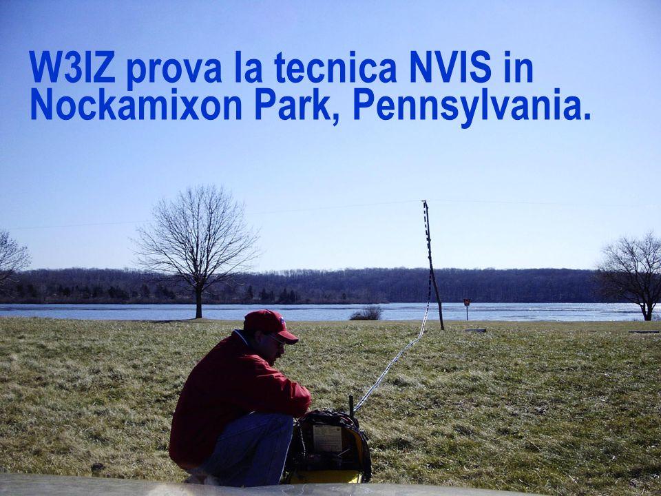 W3IZ prova la tecnica NVIS in Nockamixon Park, Pennsylvania.