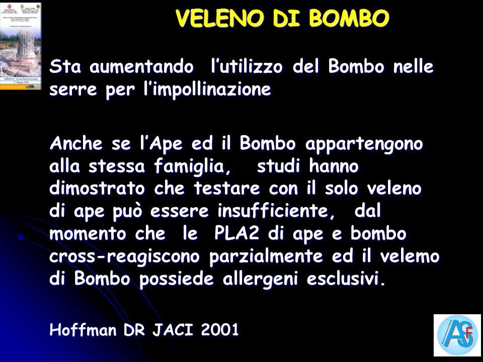 VELENO DI BOMBO Sta aumentando lutilizzo del Bombo nelle serre per limpollinazione Anche se lApe ed il Bombo appartengono alla stessa famiglia, studi