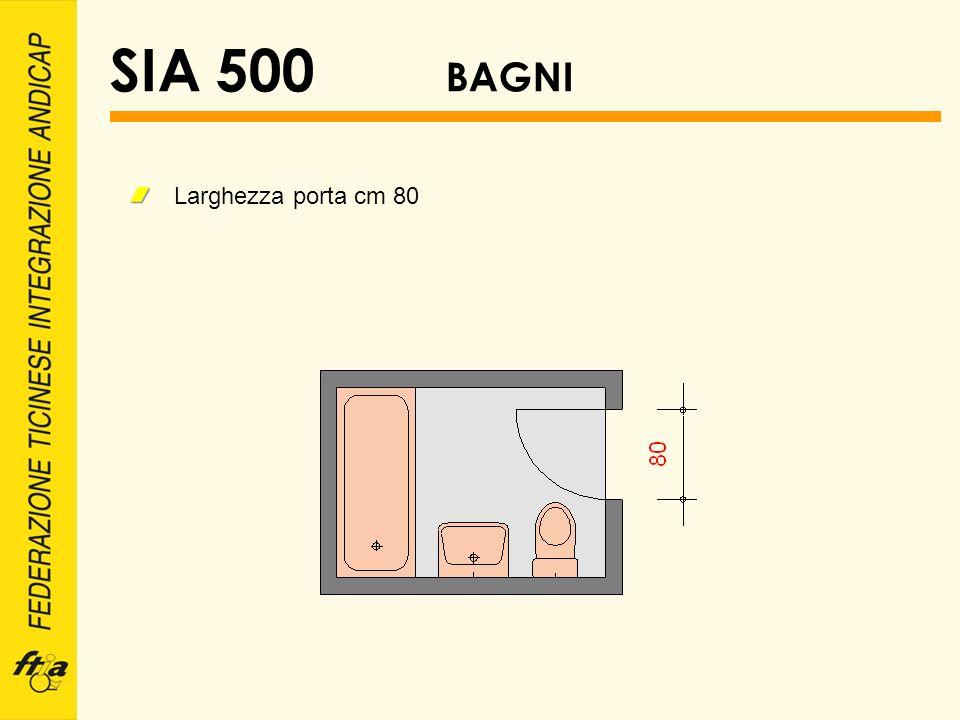 SIA 500 BAGNI Larghezza porta cm 80