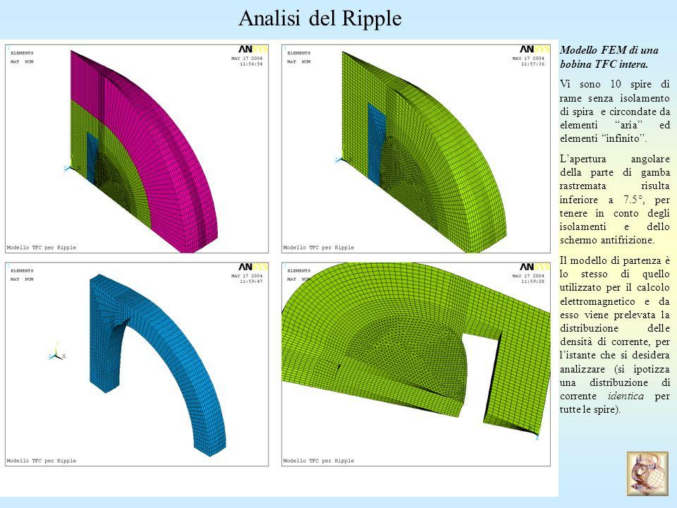 Analisi del Ripple Modello FEM di una bobina TFC intera.