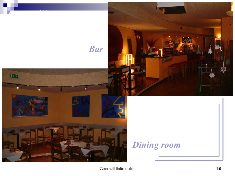 Goodwill Italia onlus18 Bar Dining room Goodwill Restaurant