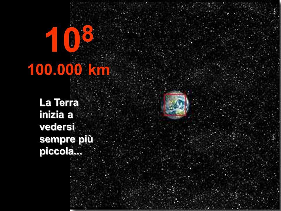 Lemisfero nord della Terra; si può vedere anche parte dellemisfero sud. 10 7 10.000 km