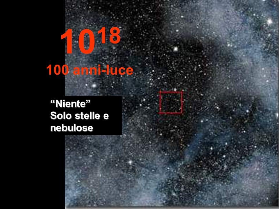 Qui vediamo solo stelle nellinfinito... 10 17 10 anni-luce