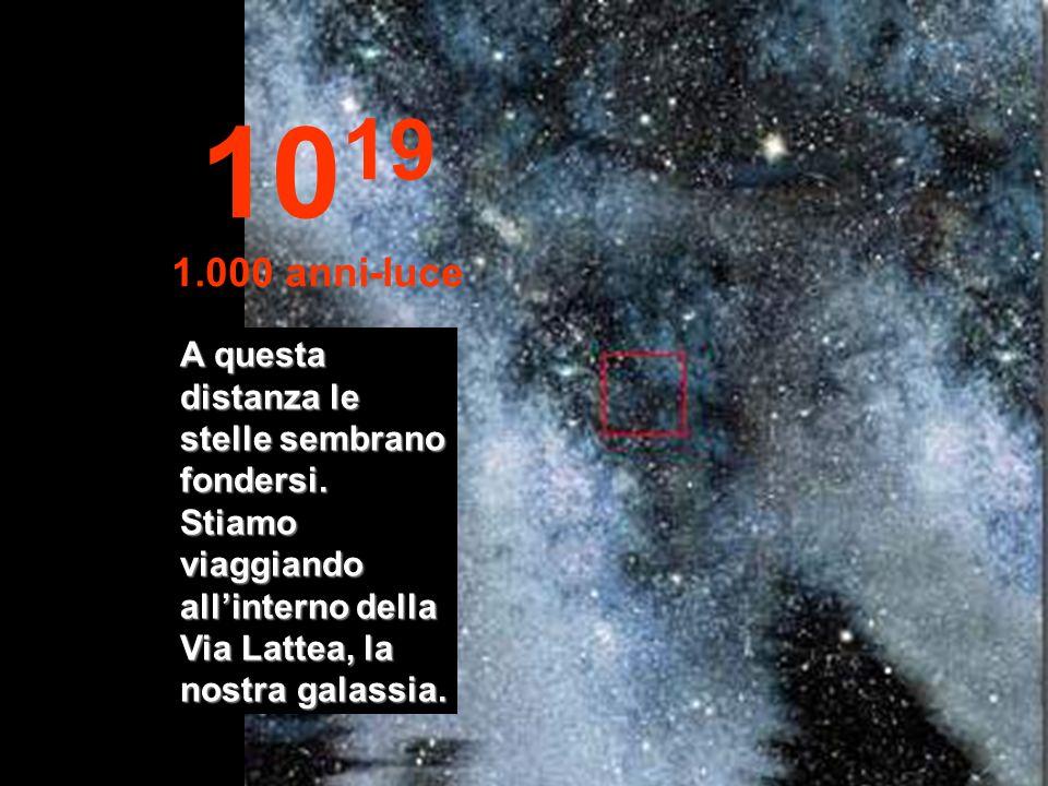 Niente Solo stelle e nebulose 10 18 100 anni-luce